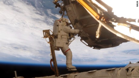 Scott Parazynski, who walked in space seven times, assisted with construction on the space station in 2007.