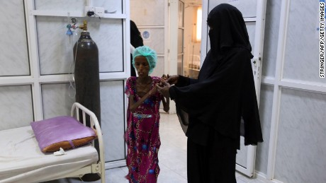 Saida Ahmad Baghili, an 18-year-old Yemeni woman from an impoverished coastal village on the outskirts of the rebel-held Yemeni port city of Hodeidah where malnutrition has hit the population hard.