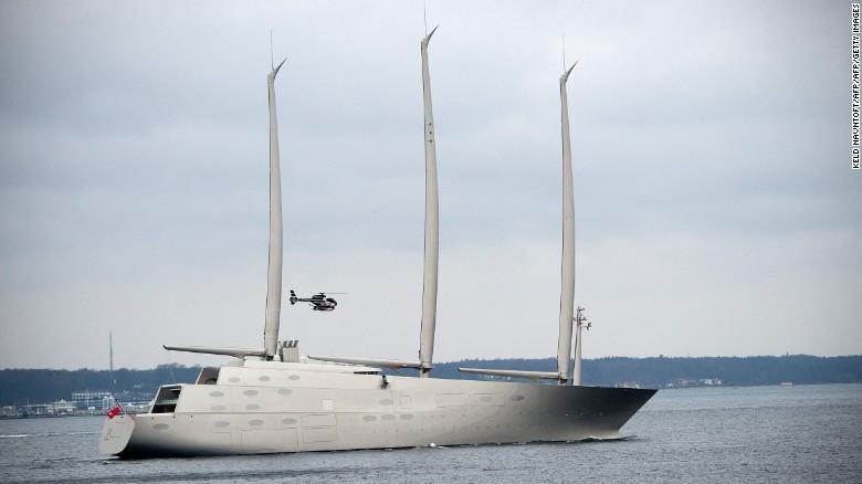 Sailing Yacht A Worlds Tallest Superyacht Sets Sail CNN