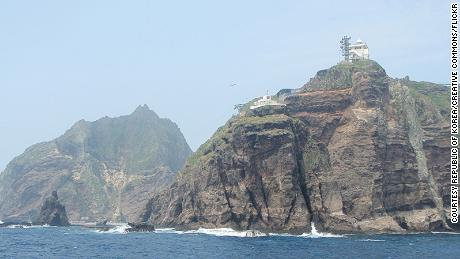 The disputed Dokdo/Takeshima islands