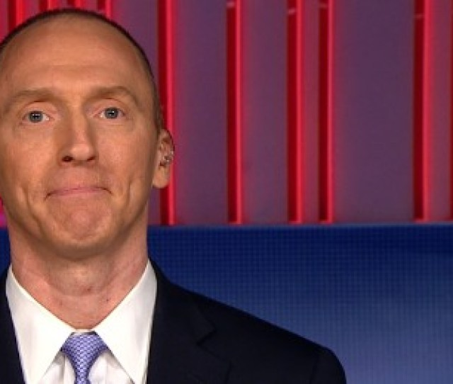 A Screen Grab Of Ex Trump Adviser Carter Page On Cnns The Lead