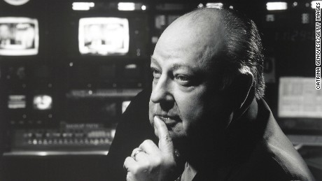 Roger Ailes, Chairman and CEO of the FOX News Channel, poses for a portrait May 1, 2001 in a control room of the station in New York City. Ailes, a former media consultant and campaign manager for George Bush''s 1988 election bid, has worked for FOX since 1996. (Photo by Catrina Genovese/Getty Images)