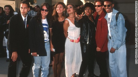 """Norman Korpi, left, and the rest of the season 1 cast of """"The Real World."""""""