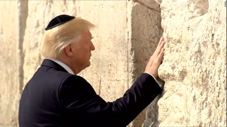 Trump makes historic visit to Western Wall - CNNPolitics