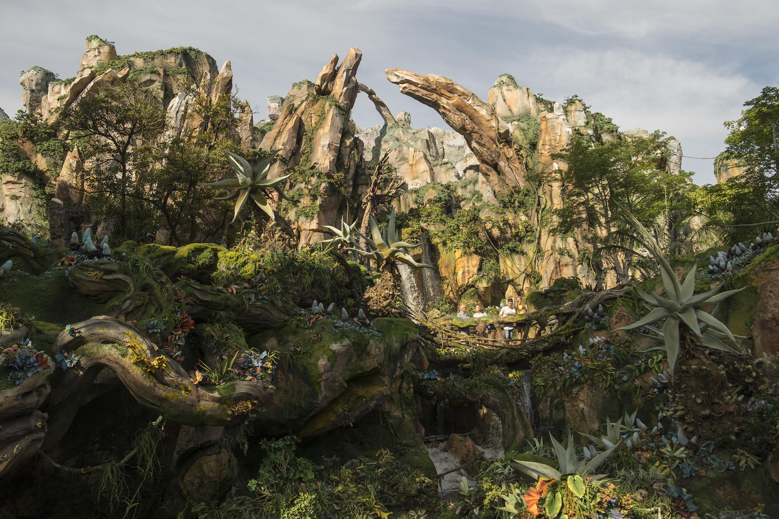 Image of: Floating Cnncom First Look Inside Disneys avatar World Of Pandora Cnn Travel