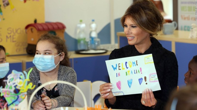 Image result for trump With Melania at Hospital