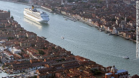 Venice will stop letting huge cruise ships dock in its historic center