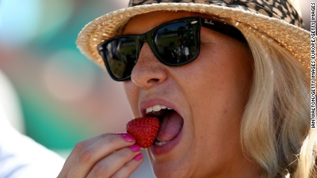 Strawberries and cream: A Wimbledon tradition.