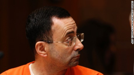 Former Michigan State University and USA Gymnastics doctor Larry Nassar appears in court in June.