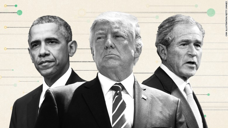 Image result for Bush, Obama blasts will be water off Trump's back