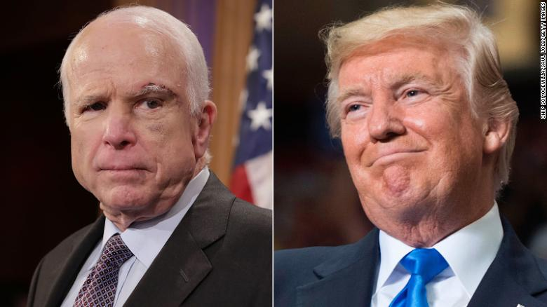Image result for Trump warns McCain: 'Be careful because at some point I fight back'