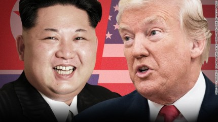Image result for trump & kim talk