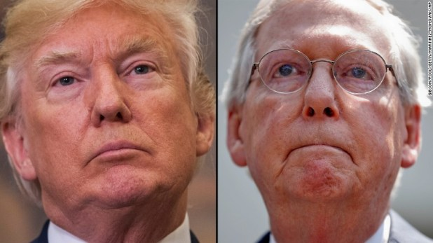 McConnell notably absent as Trump talks shutdown fight after meeting with Hill leaders