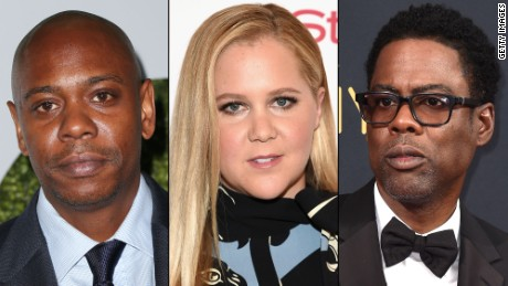 Dave Chappelle, Amy Schumer and Chris Rock