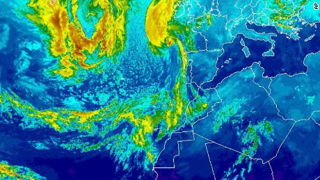 A NOAA satellite image of Ophelia at Sunday 5 p.m. ET.