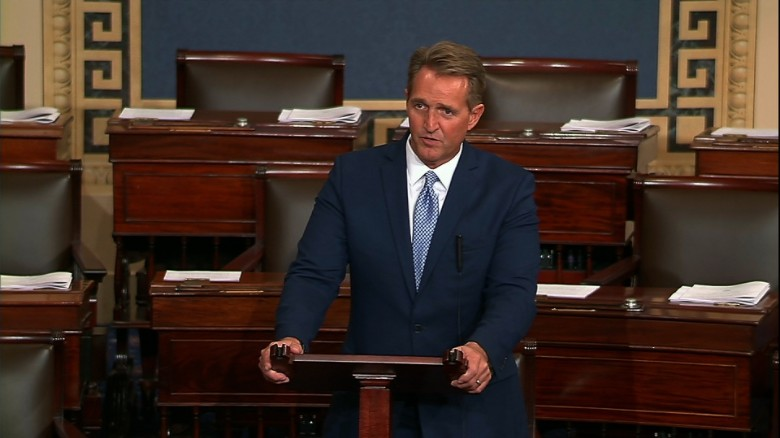 Image result for jeff flake speech on floor today