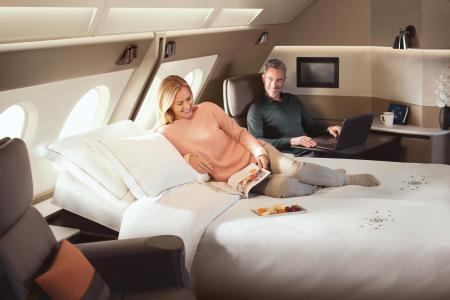Singapore Airlines  double bed Suites shake up flying   CNN Travel