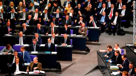 Germany's lawmakers met Tuesday for the second time since elections in September and just two days after the collapse of coalition talks.