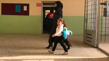 ISIS' ideology has been removed from the walls of this school.