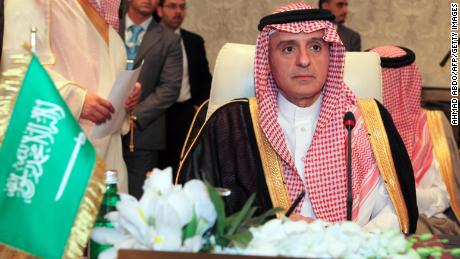 Saudi Arabia's Foreign Minister Adel bin Ahmad al-Jubeir attends a meeting of Arab foreign ministers in March this year.