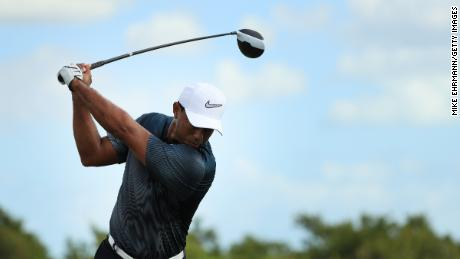 Woods surprised himself how far he was driving the ball in the Bahamas.