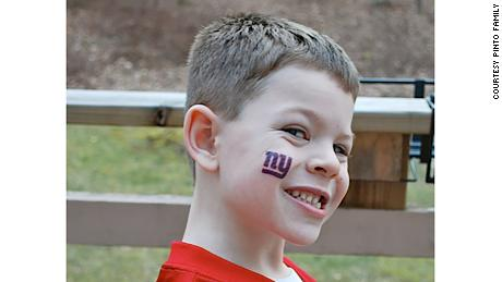 Jack Pinto loved football, and his idol was New York Giants star receiver Victor Cruz.
