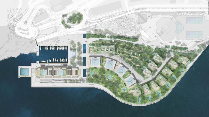 Le Portier Landgewinnung in Monaco, ein Projekt von Bouygues construction