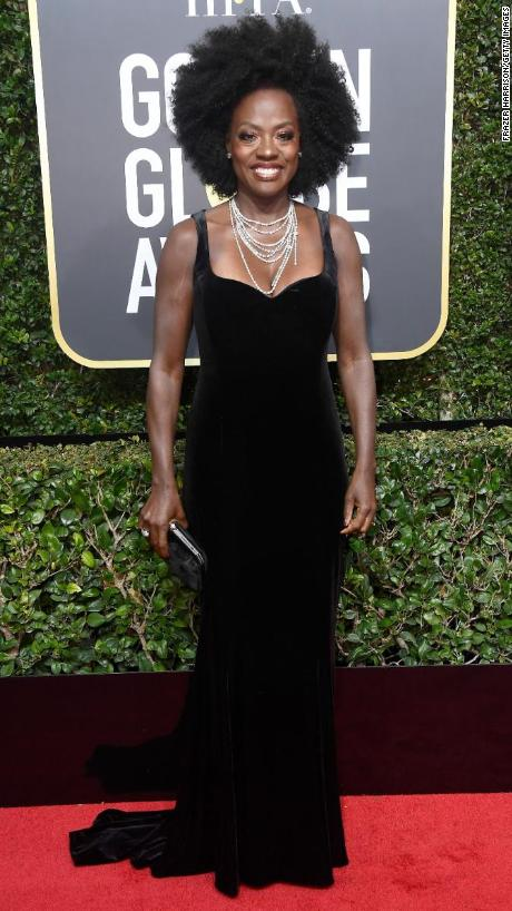 Golden Globes red carpet 2018 Viola Davis attends the 75th annual Golden Globe Awards on Sunday  January  7  Many