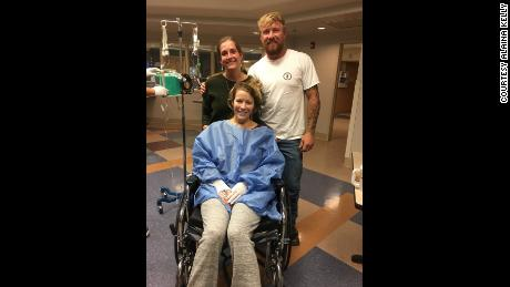 Alaina Kelly and Jake Codemo visit Rachel Sheppard for the first time after the night of the shooting at a rehab facility in Bakersfield, California.