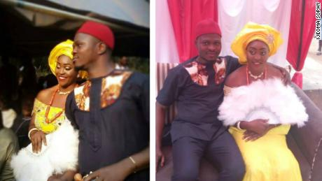 Sophy Ijeoma and Chidimma Amedu at their traditional wedding.