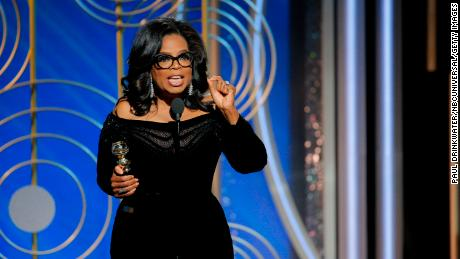 Oprah Winfrey  onstage during the 75th Annual Golden Globe Awards.