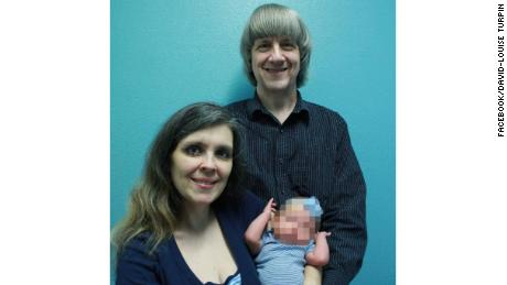 David and Louise Turpin in a family photo.