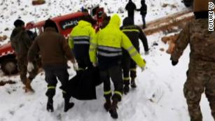 Lebanese officials: 14 Syrian refugees found frozen near border