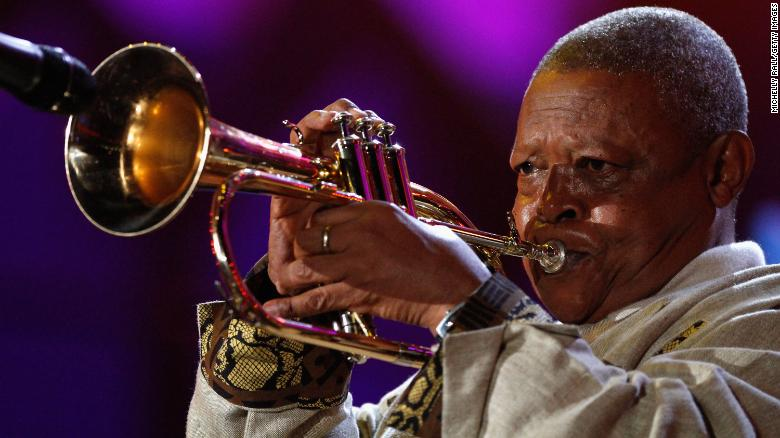 Masekela performs at the FIFA World Cup Kick-off Celebration Concert in June 2010 in Johannesburg.