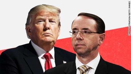 Frustrated by Russia investigation, Trump turns ire toward Rosenstein