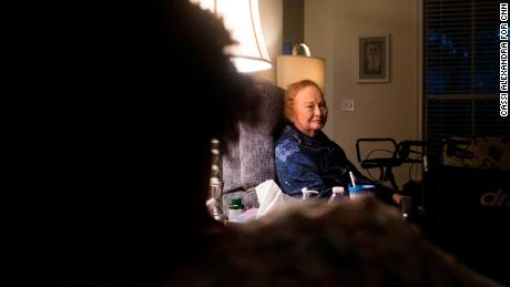 Johnson works as a caregiver and visits Tommye Hutto twice a week to help her out at home.