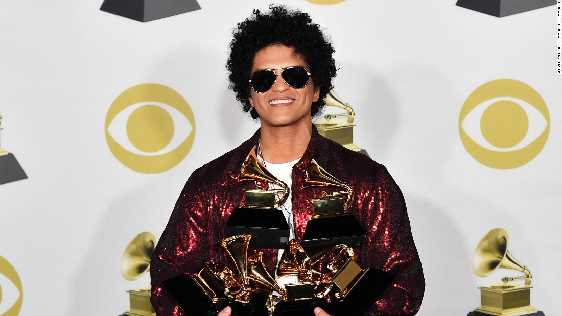 Image result for bruno mars grammys
