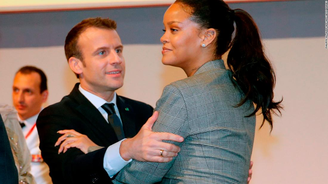 Rihanna And Emmanuel Macron Unite For A Common Cause