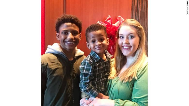 Jerome, brother Jace and adopted mother Chelsea Haley live in suburban Atlanta.