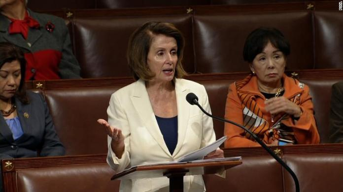 Pelosi sets record with historic House speech