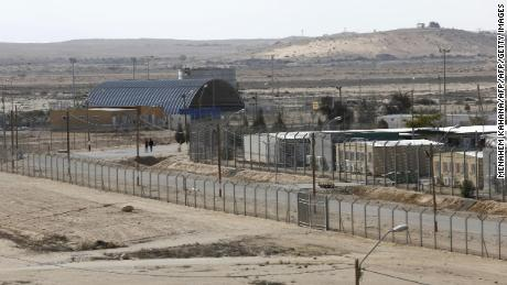 Holot detention center is located in Israel's southern Negev desert, near the Egyptian border.