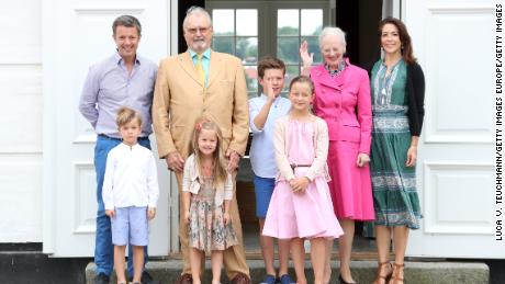 Prince Henrik (second left) with his family in 2015.