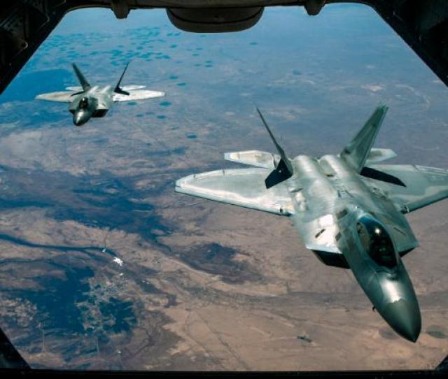 Us Air Force F22 Raptors Syria 020218