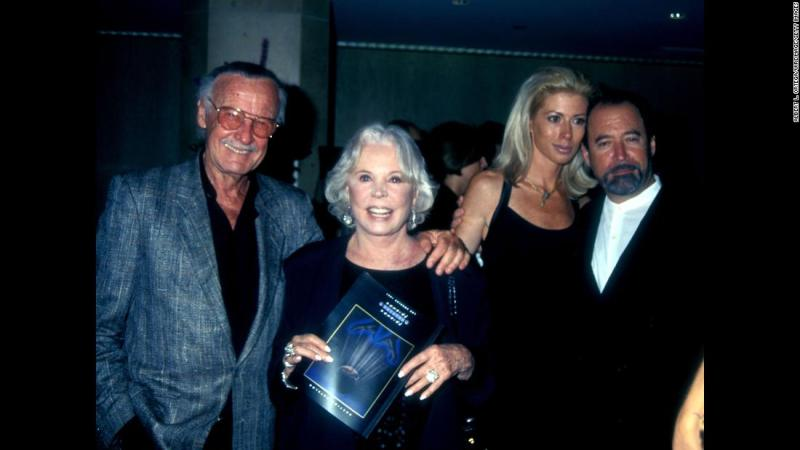 Lee attends an event with his wife, Joan, in 1997. She died in 2017.