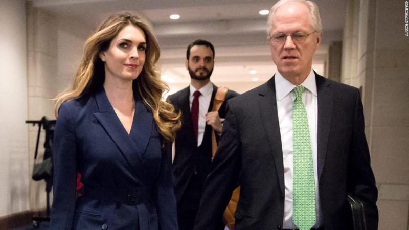 Image result for Little white lies could be a very big problem for Hope Hicks