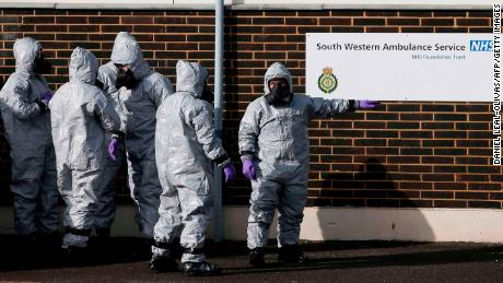 Personnel in protective equipment have become a relatively common sight in Salisbury since the poisoning of Sergei and Yulia Skripal.