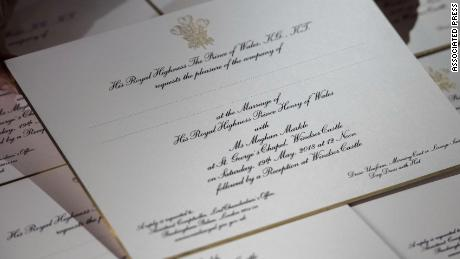 See Royal Wedding Invitations Embossed In Gold