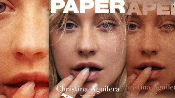Christina Aguilera's no-makeup Paper magazine cover - CNN