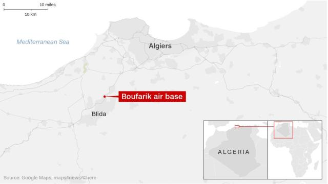 The military aircraft crashed between the capital Algiers and the city of Bilda on Wednesday.