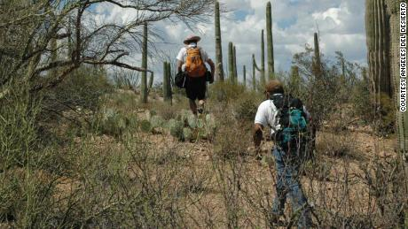 Search and rescue nonprofit Los Angeles Del Desierto (Desert Angels) at work on the Tohono O'odham Reservation in southern Arizona.